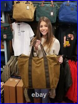 Filson Grab N Go Large Tote NEW 111070391 Dark Tan Brown Bag Carry All Waxed