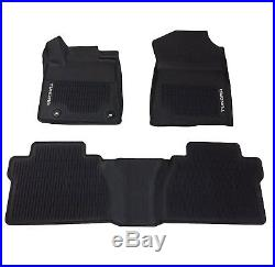 For Toyota Tundra Double Cab 2014-2018 Black All Weather Floor Mats Genuine OEM