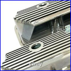 Ford FE All Finned Valve Covers Polished Tall Die-Cast Aluminum Ansen USA