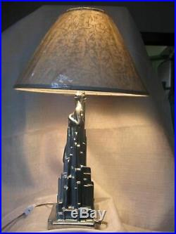 Frankart spirit of modernism art deco lamp base not painted and all metal USA