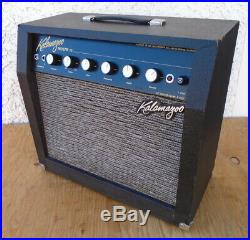 GIBSON 1966 KALAMAZOO REVERB 12. ALL-TUBE COMBO AMP REVERB+TREMOLO 1x10 withCOVER