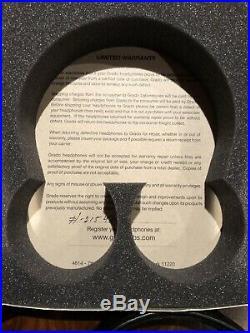 Grado SR325e Audiophile Headphones with All Original Packaging Mint Condition