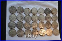 Group Lot of 28 Morgans all Pre-21 VF-AU+ sharpness. Off quality but great dates