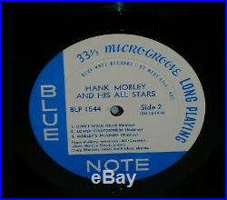 HANK MOBLEY AND HIS ALL STARS 1957 Blue Note BLP 1544 Mono DG RVG Ear 47 W 63rd