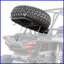 HMF Racing IQ Spare Tire Mount Rack Black Polaris RZR XP 1000 Turbo 4 All Years
