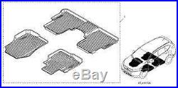 Honda CRV 17-20 All Weather High Wall Black / Blue Floor Mats New Oem