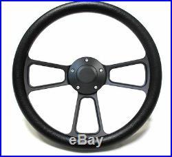Hot Rod Black Billet Steering Wheel for Chevy, Ford, Mopar! 5 Hole Forever Sharp