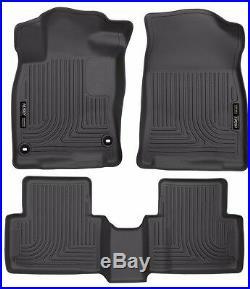 Husky Liners 2016-2020 Honda Civic Floor Mat Set Black WeatherBeater 98461