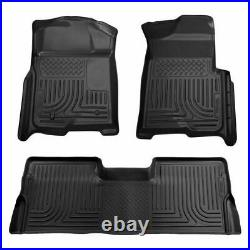 Husky Liners WB Black Floor Mats For Ford F-150 Super Crew Cab 2009-2014 98331
