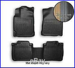 Husky WeatherBeater Front and Rear Floor Mats All Weather Liners 3 Colors