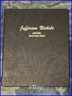 Jefferson Nickel Set Gem BU in Danco Complete 1938-1990 included all proofs
