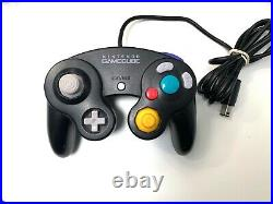 Jet Black Nintendo GameCube System Console with Original Controller & All Cables