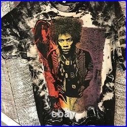 Jimi Hendrix MosquitoHead Shirt Vtg 80s All Over Rock T-shirt Rare Stedman XL