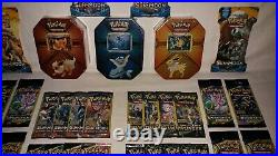 Jolteon, Flareon & Vaporeon Tins 37 Booster Pack Lot ALL NEW Factory Sealed