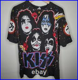 Kiss Vintage T-shirt All Over Print Original 1992 Winterland Size XL