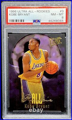 Kobe Bryant 1996-97 Fleer Ultra All Rookie RC #3 Los Angeles Lakers PSA 8