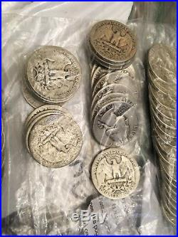 LG Lot Of Mixed Quarters 1930s To 1960s All Sliver Circulated Great Find