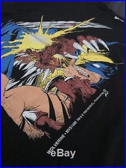 LOGAN WOLVERINE XMEN 1995 Shirt Vtg Large marvel all over print weapon x venom