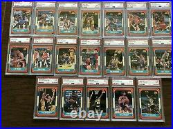 LOT of 37 1986-87 FLEER BASKETBALL CARDS ALL GRADED PSA 9 MINT