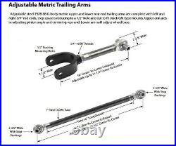 Left & Right Rear Upper Lower Control Trailing Arms 1978-88 GBody M Carlo Regal