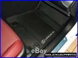Lexus IS200T IS350 (RWD) (16-18) OEM ALL WEATHER FLOOR LINER MATS 4pc (Black)