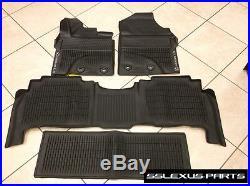 Lexus LX570 (2016-2018) Genuine OEM ALL WEATHER FLOOR LINER MATS 4pc (Black)