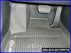 Lexus RX350 RX450H (2016-2019) OEM ALL WEATHER FLOOR LINER MATS 3pc (Black)
