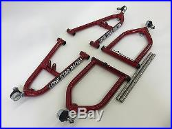 Lonestar Racing LSR Sport Extended A-Arms +2 Candy Red Yamaha Banshee 350 All
