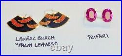 Lot12 Pair Vintage All Signed Designer Earrings Schiaparelli-dior-joan Rivers+