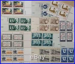 Lot Of ONE THOUSAND 4 Cent Plate Blocks 1000 Plate Blocks All MNH