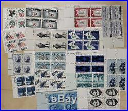 Lot Of ONE THOUSAND Mixed 5 Cent Plate Blocks 1000 Plate Blocks All MNH