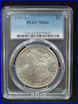 Lot of 10 Different Morgan Silver Dollars All Certified PCGS MS 63