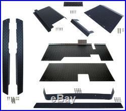 MODZ EZGO TXT Golf Cart ALL AMERICAN Black Diamond Plate Accessories Kit