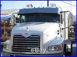 Mack CH and Mack Vision 13 Drop Visor Polished Stainless Steel Fits All Years