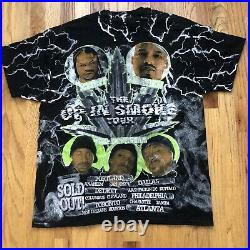 Mens Vintage Style Up In Smoke Tour All Over Print Bootleg Rap T Shirt Tee Sz XL