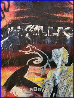 Metallica First Five Albums Vtg 90's XL T Shirt 1991 RARE All Over Print Brockum