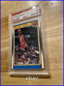 Michael Jordan PSA 5 EX 1988 Fleer All Star ICONIC DUNK INVEST Against INFLATION