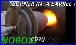 Micro Silicon Carbide all fuel forge, foundry, kiln burner Melt cast Iron in 8 min