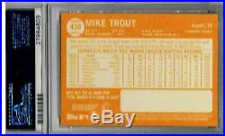 Mike Trout 2013 TOPPS HERITAGE #430A ALL STAR ROOKIE PSA 10 PERFECT RC