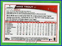 Mike Trout 201 Topps CHROME ALL STAR ROOKIE CUP BLUE REFRACTOR #1 Ser#2/199 HTF