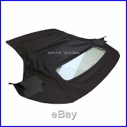 Mustang Convertible Top (05-14 All Models) Black Stayfast Cloth, Glass Window