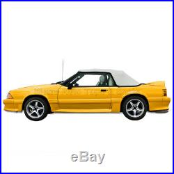 Mustang Convertible Top (91-93 All Models) White Vinyl with Tinted Glass Window