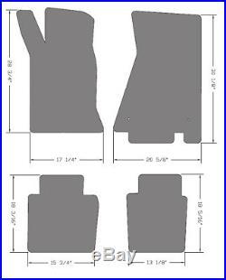 NEW! 1982-1992 Camaro Floor Mats Black Carpet Embroidered Script Silver on all 4