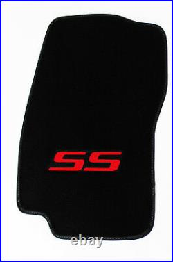 NEW! 2002-2007 Chevy TrailBlazer Floor Mats Black Embroidered SS Logo Red All 4
