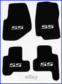NEW! 2002-2007 Chevy TrailBlazer Floor Mats Black Embroidered SS Logo Silver All