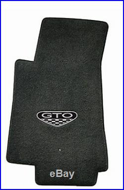 NEW! BLACK FLOOR MATS 2005-2006 PONTIAC GTO CREST Embroidered Logo on all 4 Set