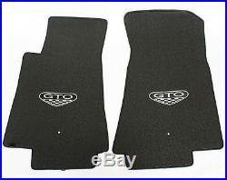 NEW! BLACK FLOOR MATS 2005-2006 PONTIAC GTO CREST Embroidered Logo on all 5 Set