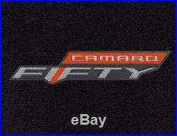 NEW! BLACK FLOOR MATS 2016-2020 Camaro Embroidered 50TH Anniversary Logo All