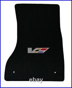 NEW! BLACK FLOOR Mats 2003 2007 Cadillac CTS V Series Flag logo set of 4 All