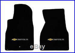 NEW! BLACK Floor Mats 2006-2014 Chevy Impala Embroidered Bowtie Double Logo All